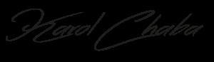karol chaba, podpis karol chaba, karol chaba logo
