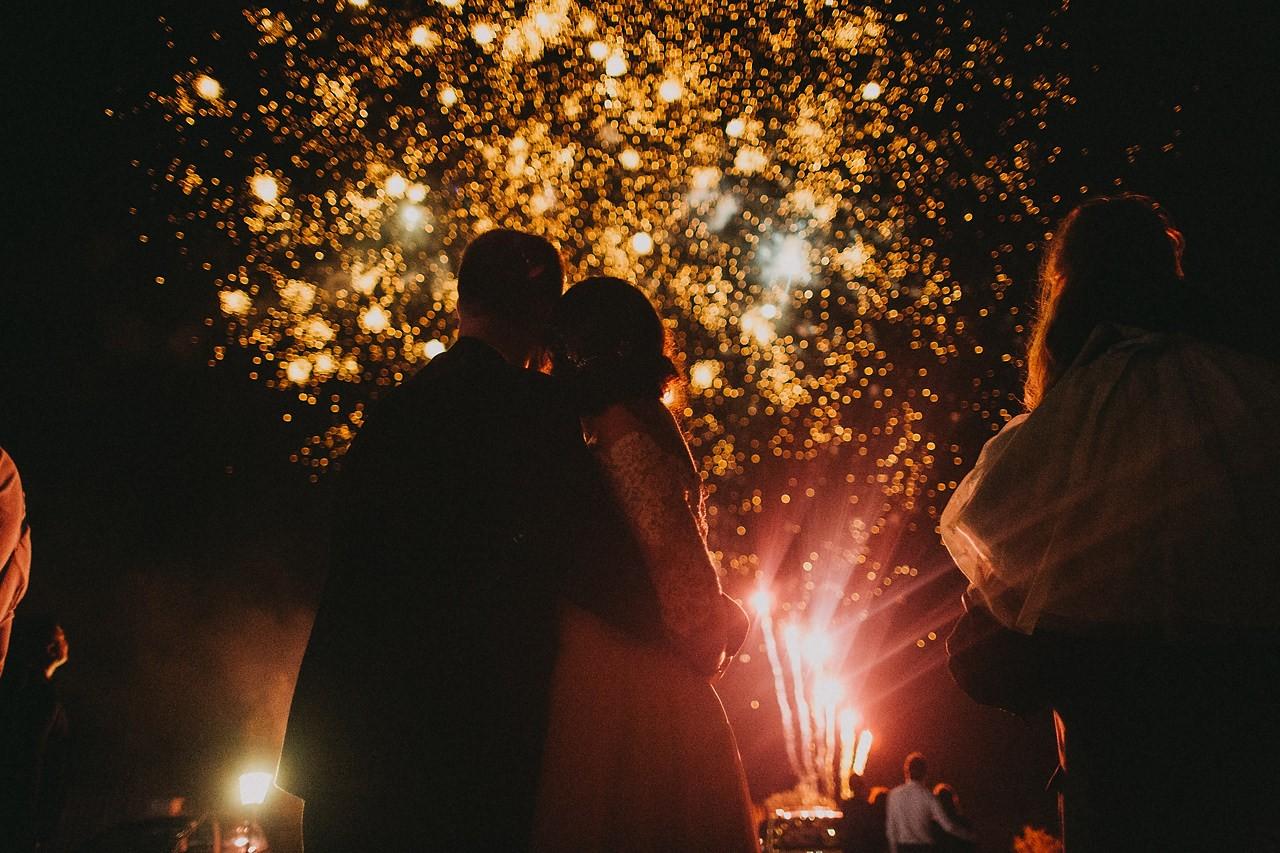 fajerwerki ślubne