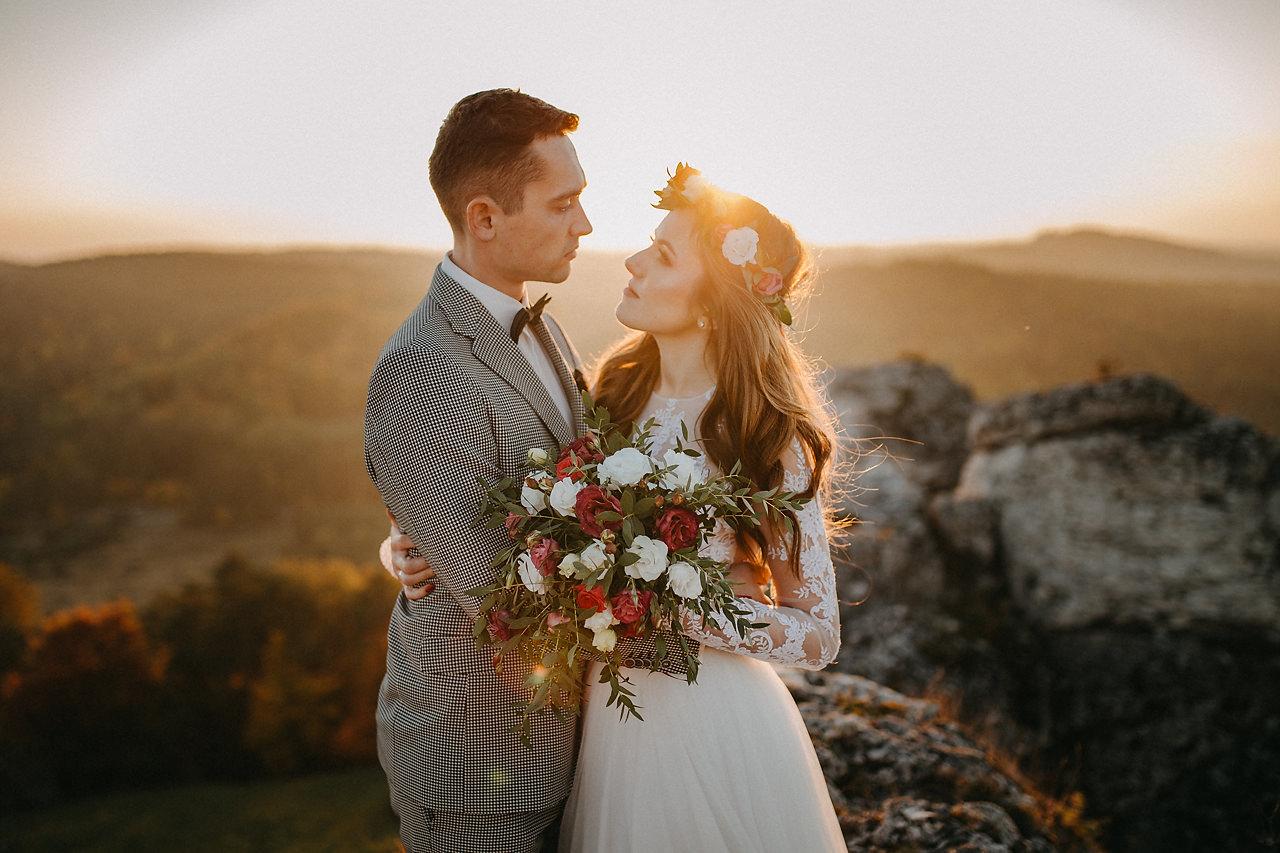 góra zborów sesja ślubna, fotograf ślubny Katowice