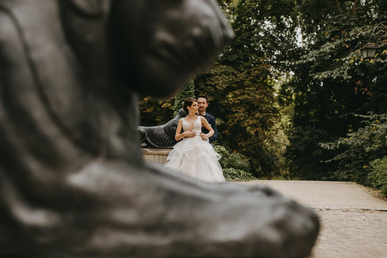 sesja ślubna w Łazienkach